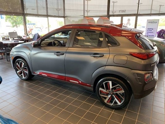new 2019 hyundai kona iron man matte grey w iron man red roof for sale in frederick md 2019 hyundai kona iron man